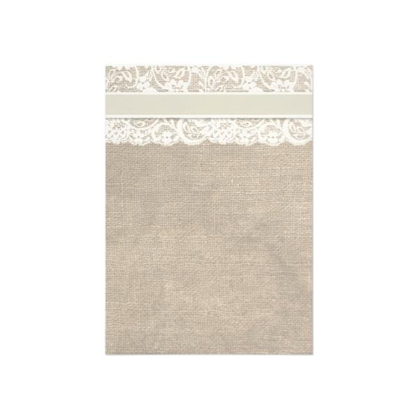 Lace and Burlap (Ivory Bow) Bridal Shower Invitation - Luxury ...