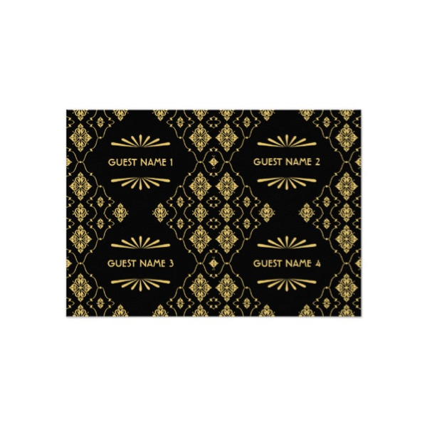 Art Deco Wedding Gift : Art Deco (Black Gold) Wedding Gift Tags - Luxury Wedding Invites