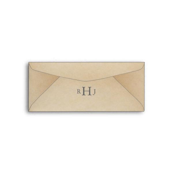 Vintage Ticket Wedding Invitation Envelope
